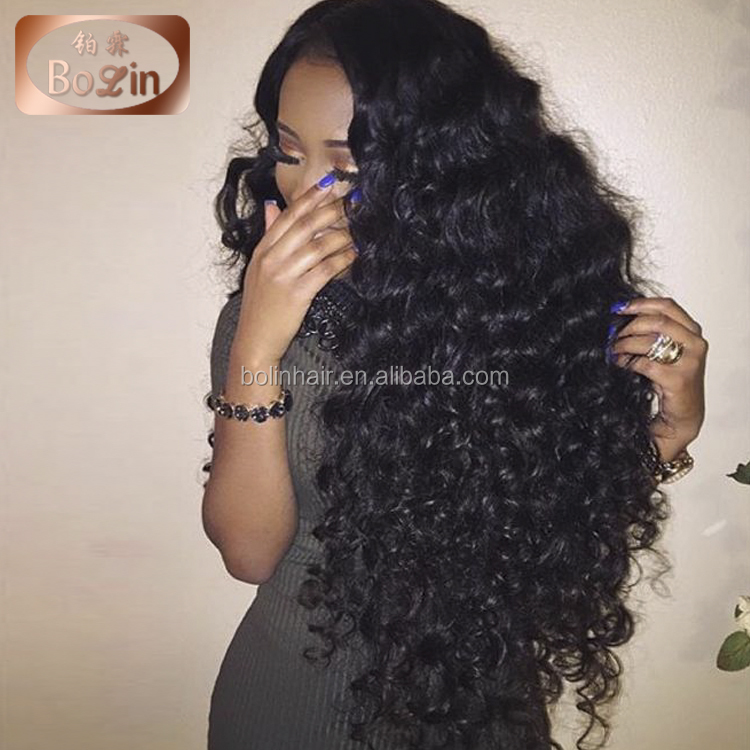 Popular Loose wavy Hair remy virgin brazilian hair weave full lace human hair wigs