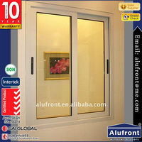 Powder coating fireproof flush commercial sliding Doors And window with mosquito net