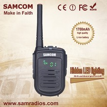 SAMCOM CP-120 High Quality Shatterproof 1700mAh Lithium-ion 2W Handheld Mini Walkie-Talkie