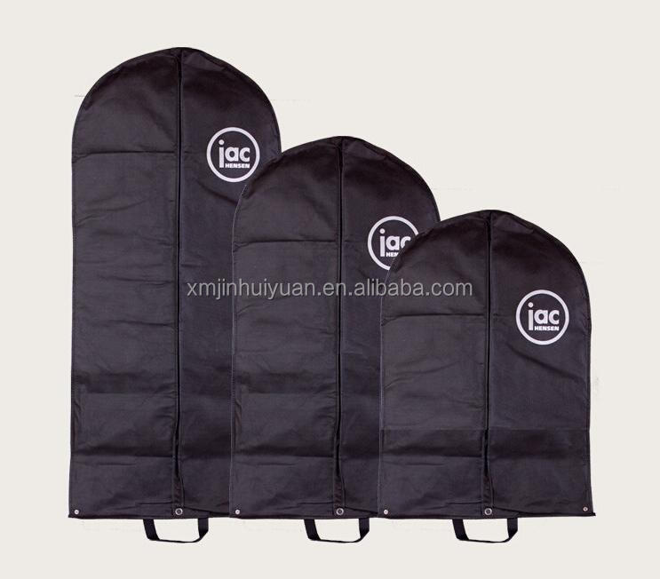 Polyester,Non Woven Material and Tote,balck breathable suit cover foldable garment bag