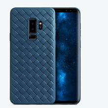 Galaxy S9 Case Soft Silicon Grid Weaving Back Cover For Samsung Galaxy S9 Plus Phone Case