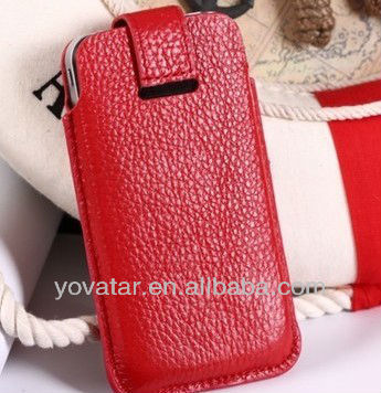 Pouch Real Leather Cover Holster Case for iPhone 5
