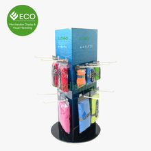Triangle Cardboard Rotating Cardboard Display, Turntable Paper Display Stand For Hanging