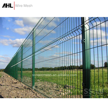 Hot Dipped Galvanized Welded Wire Mesh PVC Powder Coated Black Security Metal Fencing 3D Fence Panel