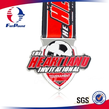Invitational Tournament Soccer Medal with Sublimated Ribbon