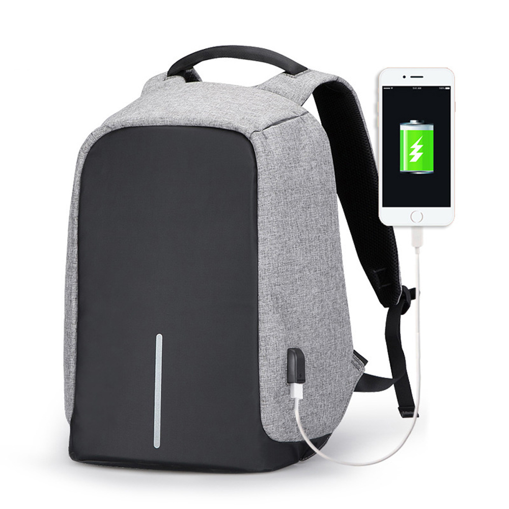 Multifunction Anti-thief USB Charging 17.3 Inch Laptop Backpack High Quality Male Nylon Laptop Backpack Bag