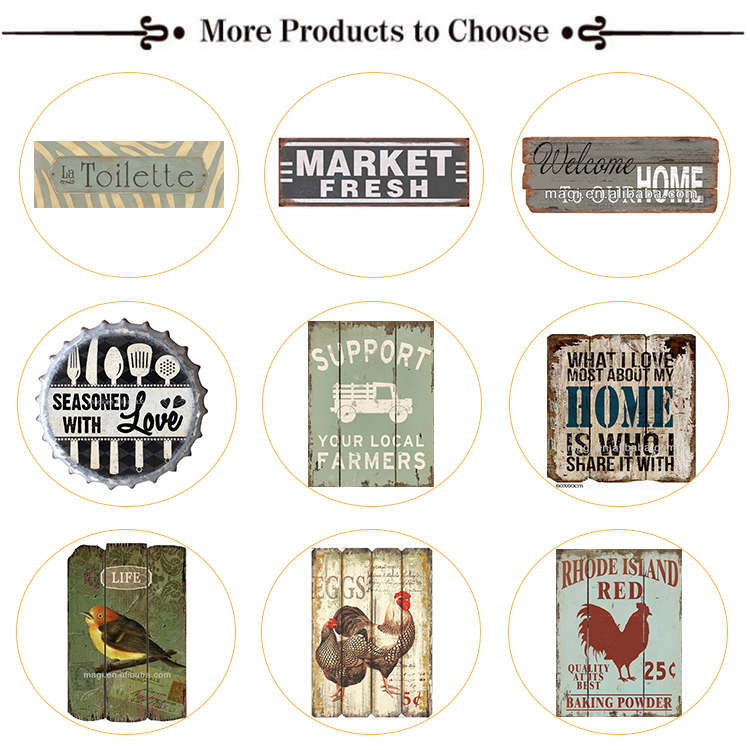 Eco-Friendly Home Decoration iron animal custom metal signs wholesale
