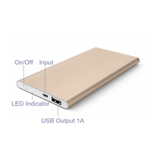 Smart Aluminum Case 3.7V Battery Mobile MFI Power Bank Quick Charge 2.0 6000mah