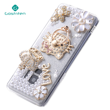 Luxury women design Bling Diamond Pearl Cell Phone Case Soft TPU PC Crystal Back Cover Case for Samsung S9 Plus Note 8 S8 Plus