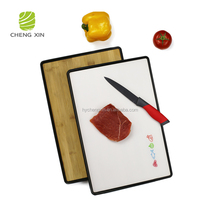 2018 High Quality New Design cheap PP and Bamboo cheese cutting board
