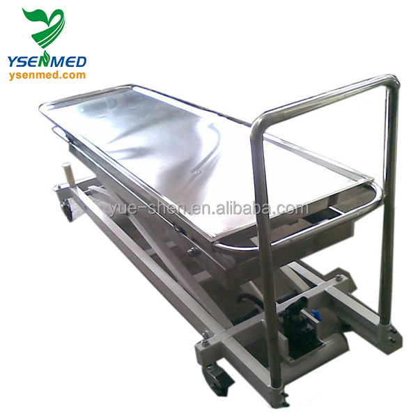 Hospital stainless steel mortuary equipment for mortuary cooler and stretcher
