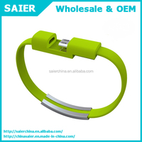 Saier driver download usb mobile phone bracelet data cable for iphone 5