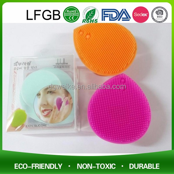 2017 Silicone face exfoliate brush for keep beauty