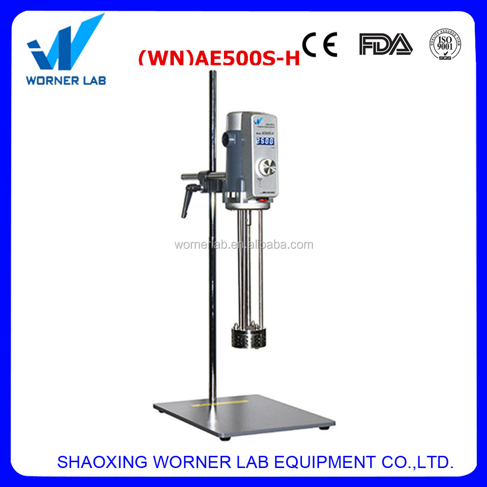 Professional manufacturing lab high shear homogenizing mixer