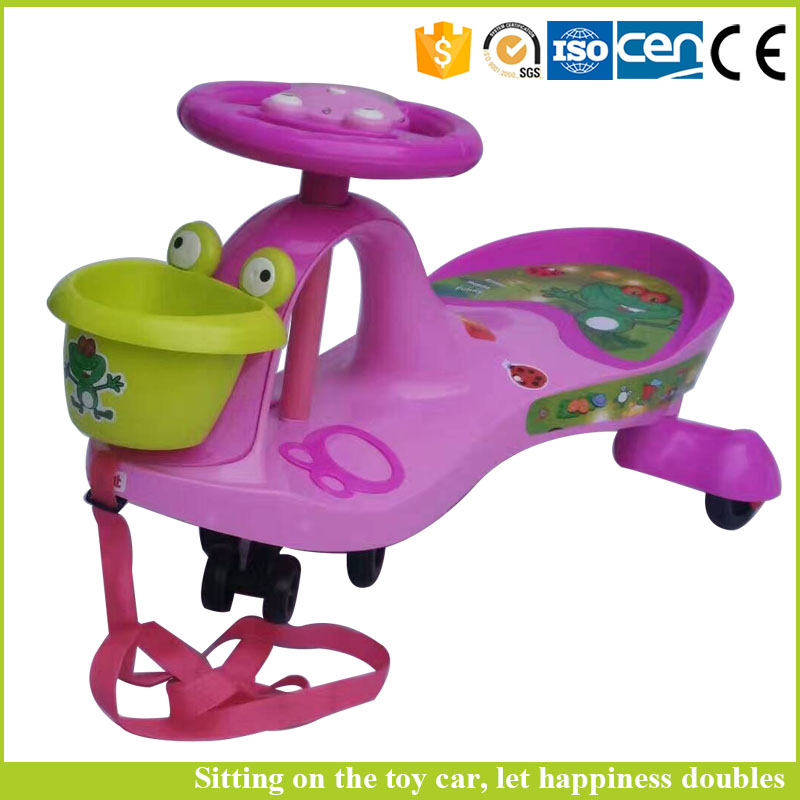 2016 Lovely children wiggle car / swing car parts with plastic wheels