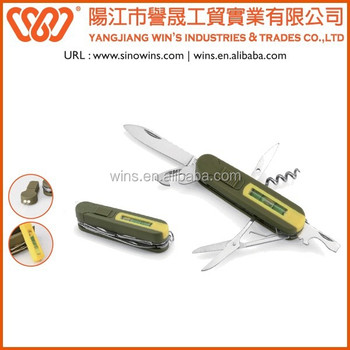 A21-5017-6BB Individual LED and Leveling Measure Pocket Knives