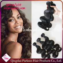 Parksonhair Products Beautiful Smooth Wholesale Cheap Virgin Body Water Sew Wave Unprocessed Brazilian Human Hair Extensions