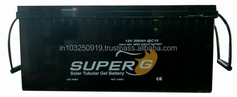 12V,200 AH Solar Tubular Gel batteries