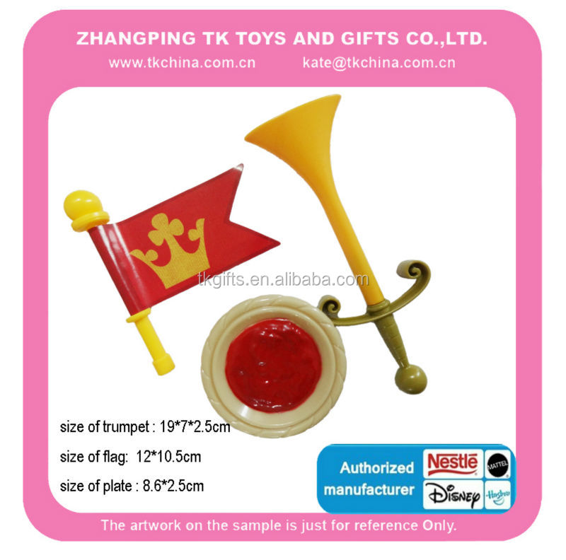 hot sale toy plastic trumpet and flag