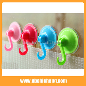 Plastic Wall mounted Hanger Hook and suction Hanger Wall/suction cup hook hanger