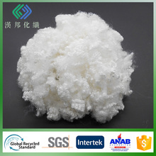 7Dx64mm semi virgin antibacterial HC non-silicone polyester staple fiber for padding