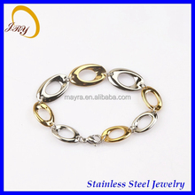 Gold Lusted Chain Link Bracelet Bangle fashion Jewelry Costume