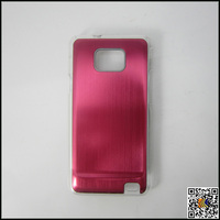 for Samsung i9100 Aluminum cover transparent border case,Aluminum cover