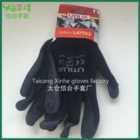 EN 388 Industrial Anti-static Labour Latex coated polyester working gloves
