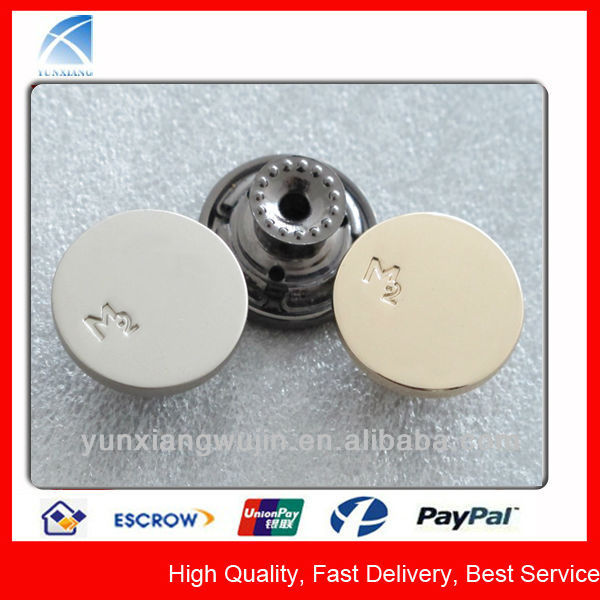 YX5143 Custom Flat Top Metal Buttons for Blazers