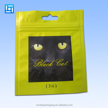 customize printed resealable zipper aluminum foil plastic packaging bags with hard handle and hang hole