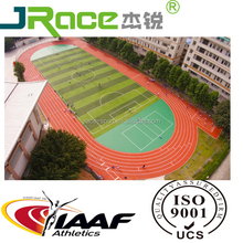 Synthetic rubber running track material