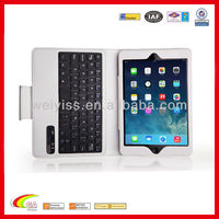 Folding Leather Case with bluetooth Keyboard For Ipad Mini