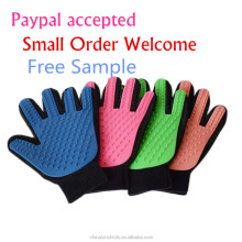 Free sample paypal clean up products for dogs and cats small animals grooming tools bathing products pet grooming glove brush
