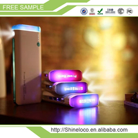Cheap promotional items 3 ports 18000mah power bank with LED light