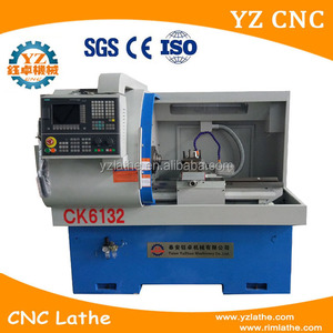 Machine Manufacturers micro mini cnc lathe metal engraving machine CK6132