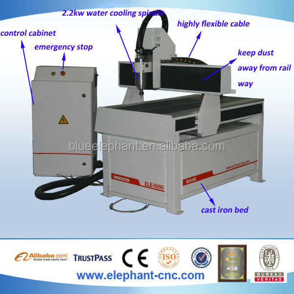 China wood router king cut cnc machine