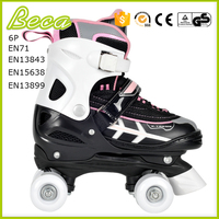 Wholesale alibaba adjustable pink quad speed skates for kids