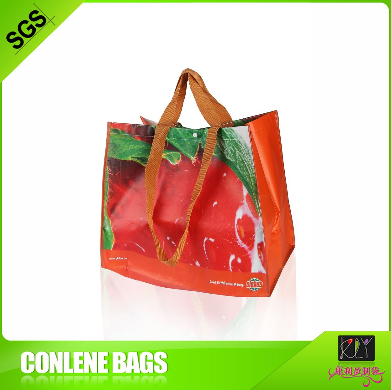 recycle material and folding style christmas shopping bag