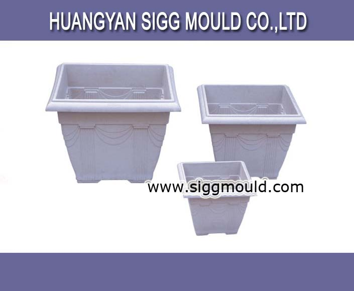 plastic attractive flower pot mould company custom product