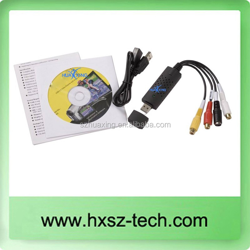New USB 2.0 VIDEO & AUDIO CAPTURE VHS to DVD PC Converter Capture Card