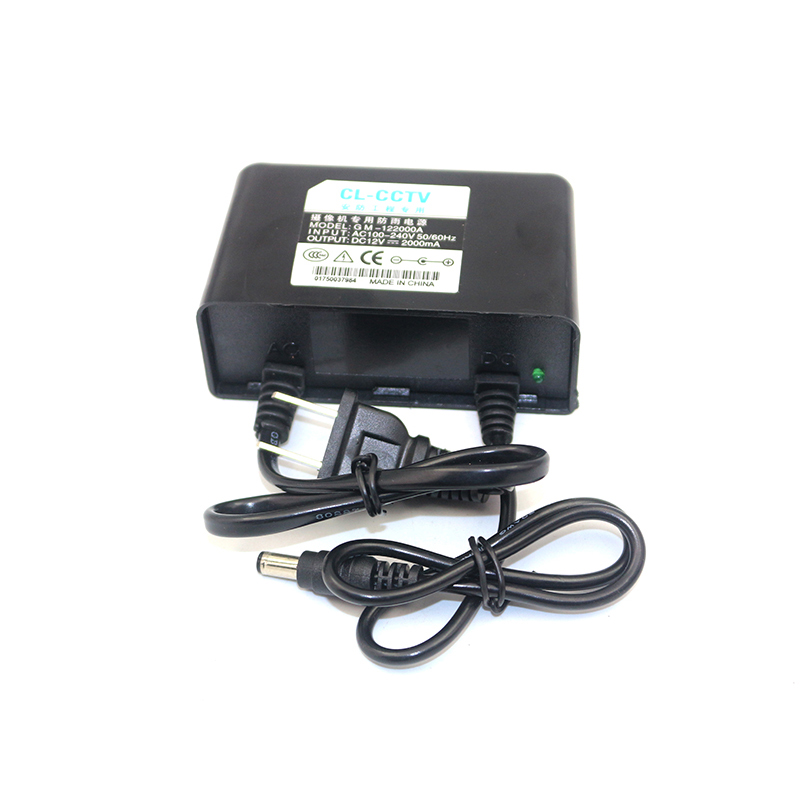 waterproof outdoor 12 v 2a power supply 12V AC/DC wall adapter for LCD LED cctv camera