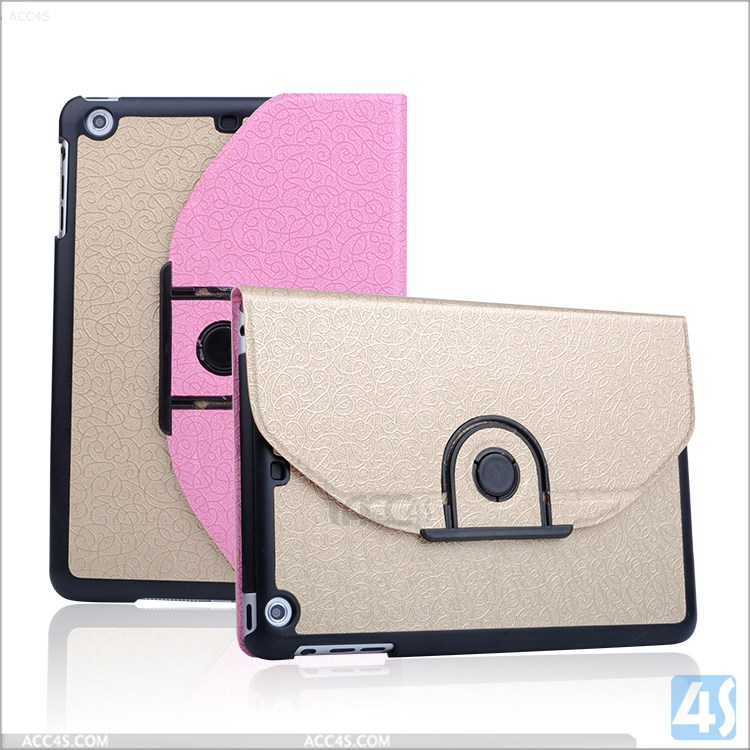 New design exclusive design 360 rotation leather case for Ipad mini 2 3