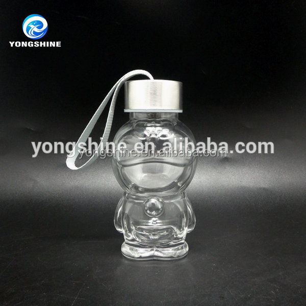 150ml doraemon shape decorative glass jars and lids