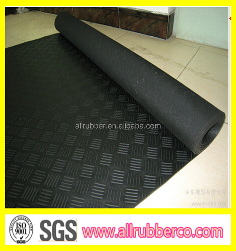 Elongation 300 Checker Rubber Sheet Anti Slip Rubber Mat