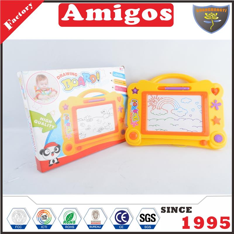 for children Drawing board orange/yellow/purple magnetic drawing board