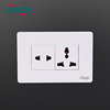 Cheap Electrical 16A Household 2 gang 5 pin universal wall socket outlet