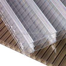 Three layers polycarbonate hollow sheet,pc panel triple layer polycarbonate sheet