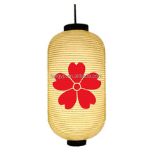 hanging red flower pattern japanese paper lanterns craft