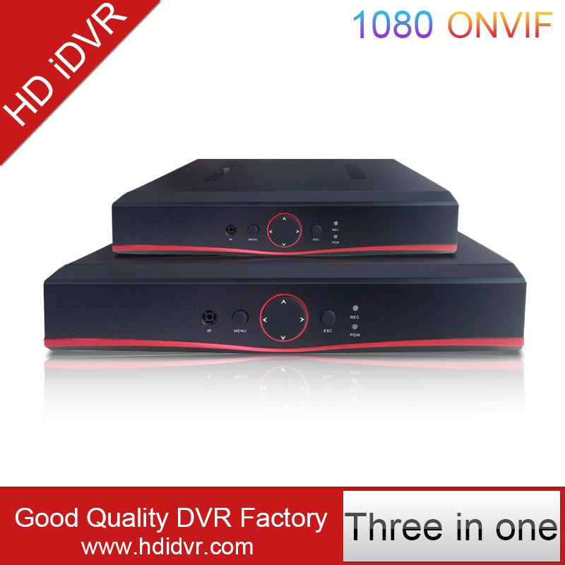 Hot-selling 720P/1080N 4 Channel P2P H 264 Net Viewer DVR Realtime Three In One
