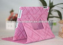 cute leather case with stand for ipad